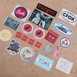 Rad 20+ Piece Sticker Lot